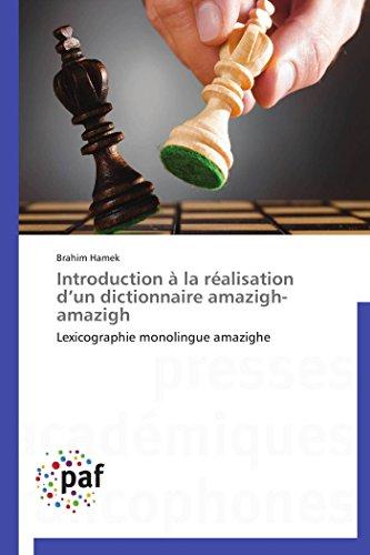 Télécharger Introduction à La Réalisation D Un Dictionnaire