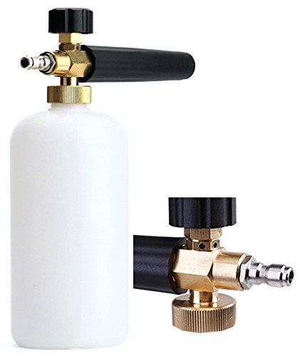 Tikteck - Limpiador de presión para coches con lanza de espuma de 1 L para botella de jabón, ideal para lavar a presión...
