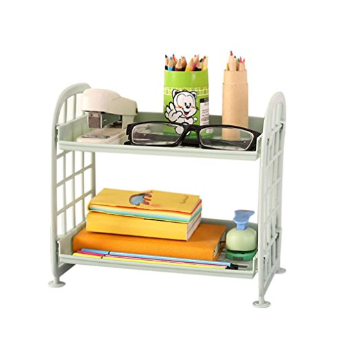 YJYdada Double Layer Cosmetic Storage Rack Kitchen Bathroom Organizer Plastic Plate (Tech Craft Metal Tv Stand)
