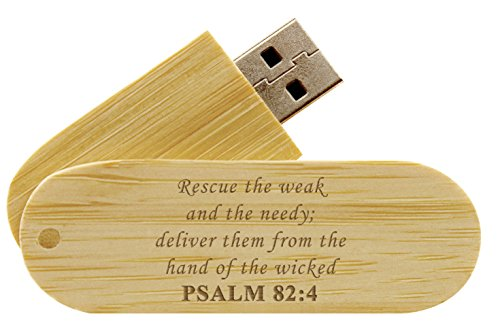 16GB USB Flash Drive Bamboo NDZ Bible Psalm 82:4