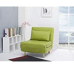 Sillón cama, Como verde