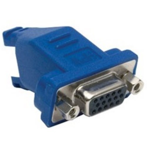 Hubbell Wiring Systems 15A6P1 X-END AV Plug-n-Play VGA Connector, 15-Pin to 8-Pin Female, 45 Degree Angle