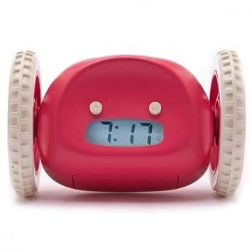 Nanda Clocky - Reloj despertador (con ruedas, se mueve al ...