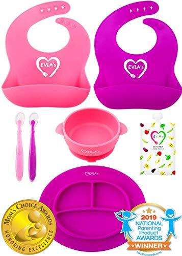 Baby Feeding Set | Silicone Bib Plates