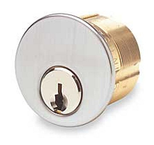 (Ilco 7185SC1-26D-KD 1 1/8In 5 Pin Mortise Cylinder, Satin Chrome)