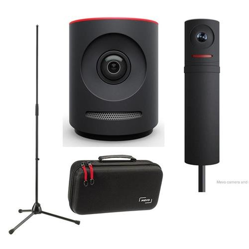 Mevo Plus Live Event Camera by Livestream, Black - Bundle With Boost by Livestream, Case for Live Event Camera, K&M Microphone Stand (Event Bundle)