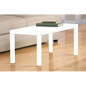 DHP Parsons Modern Coffee Table, Multi Use And Quick Assembly, White