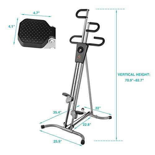 Vertical Climber Exercise Climbing Machine w/2 Resistance Bands,Home Gym Equipment Stepper Machine, Full Body Workout Fitness Machine w/Additional Resistance by Fitnessclub (Image #5)