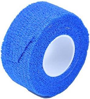 5x MC24® Fingerpflaster Fingerverband Fingertape Wundverband Fingerbandage, kohäsiv, selbsthaftend, 2,5cmx4,5m, blau