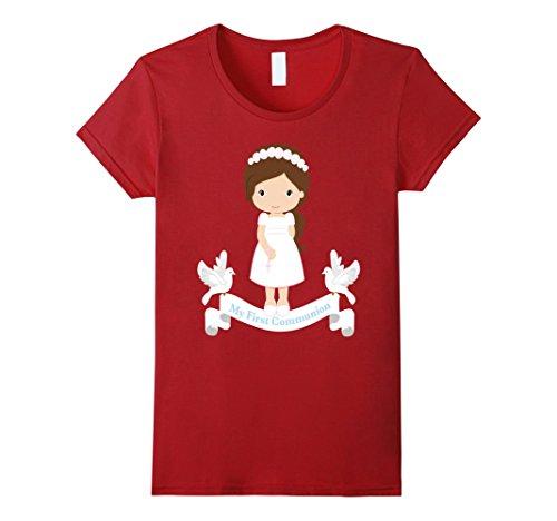 Women's My First Communion Shirt Gift Kids Daughter Girl ...