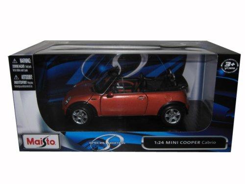 Mini Cooper Cabriolet Orange 1/24 Diecast Model Car by Maisto