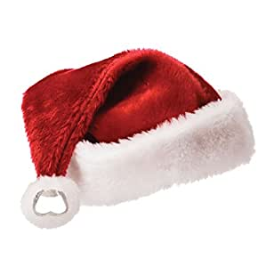 DCI Santa's Bottle Cap, Red/White, One Size