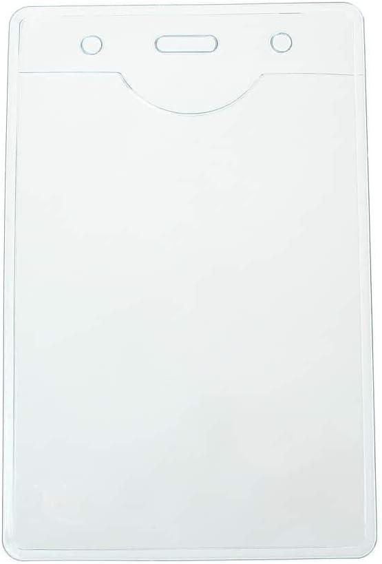CKB Ltd 10x Event Clair Vertical Carte ID Support De Badge Card Pochettes en Plastique Pour Badge Pocket Holder Pouchs 12.5 x 8cm