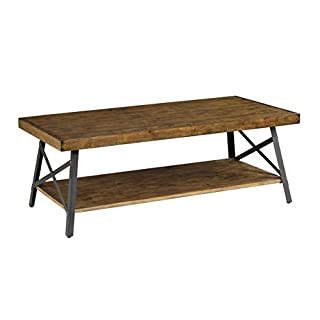 Emerald Home Chandler Rustic Industrial Solid Wood and Steel Coffee Table with Open Shelf (B00ETN50B8) | Amazon Products