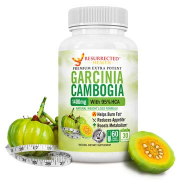 Pure Garcinia Cambogia Extract 95% HCA Highest Potency - 1400mg - Fast Acting Diet Pills to Help Boost Metabolism - Natural Appetite Suppressant & Carb Blocker - #1 Fat Burner for Max Weight Loss