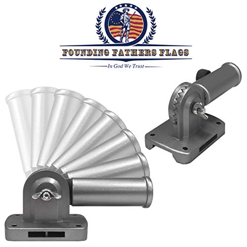 Founding Fathers Flags Silver Outdoor Adjustable Flag Bracket ()