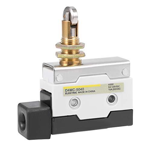 uxcell D4MC-5040 Panel Mount Crossroller Plunger Limit Switch 1NC+1NO