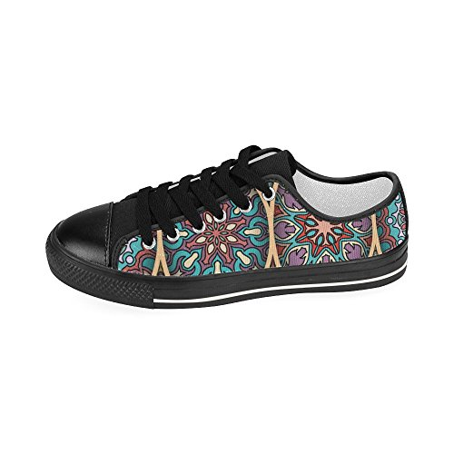 InterestPrint floral and mandala Classic Canvas Slip-On Shoes for Women Floral and Mandala WD5PkDe