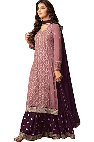 SHAFNUFAB Women's Georgette Semi Stitched Anarkali Salwar Suit (Anarkali-Gown-Salwar-Suit-SF121105 Green Free Size)