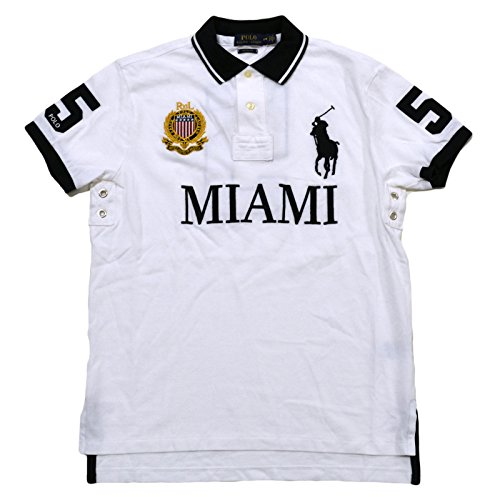 Polo ralph lauren mens big pony city custom mesh polo for Embroidered polo shirts miami