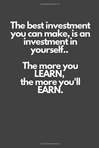 best investment is yourself