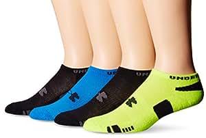 Under Armour Men's HeatGear No Show Socks, Electric Blue/Assorted, Medium