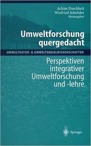 Book Umweltforschung quergedacht (Umweltnatur- and Umweltsozialwissenschaften)