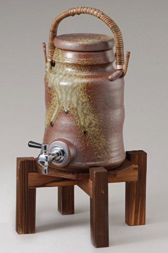 古信楽サーバー(コルク栓付) マイナスイオン 陶器 信楽焼 焼酎サーバー B01MT5WNW1
