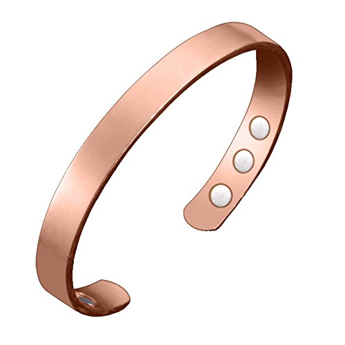 (Pure Copper Magnetic Therapy Bracelet For Arthritis, RSI, Carpal Tunnel, Migraines & Fatigue)