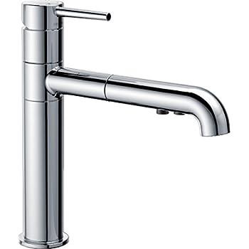 Delta Signature Matte Black  Handle Pull Out Kitchen Faucet
