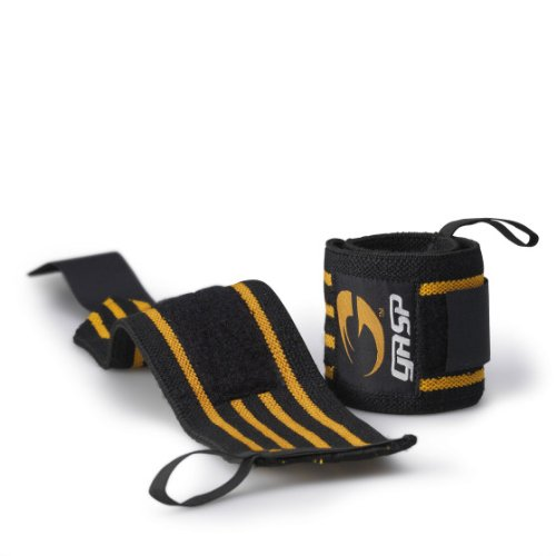 GASP Hardcore Wrist Wraps Color: Black / Wrist Support for Bodybuilding + Weight Lifting by GASP