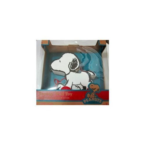 Peanuts Snoopy Retro Wooden Pull Toy by Forever (Snoopy Pull Toy)