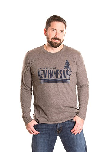 - Alma Mater NCAA New Hampshire Wildcats Men's Long Sleeve T-Shirt, Small, Heather Grey