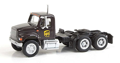 - International(R) 4900 Dual-Axle Semi Tractor Only - Assembled -- United Parcel Service (Modern Shield Logo, brown, yellow)