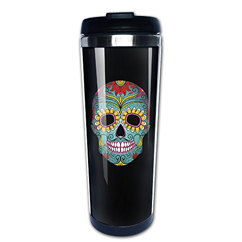 Images Of Day Of The Dead Costumes (Sugar Skull Day Of The Dead Travel Coffee Mug Water Bottle)