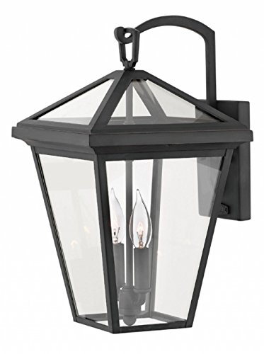 Hinkley 2564MB Alford Place Outdoor Wall Sconce, 2-Light, 120 Total Watts, Museum Black ()