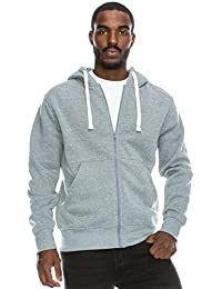 Mens Hipster Hip Hop Basic Lightweight Zipup Hoodie Jacket (Upto 6XL Plus)