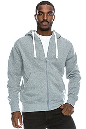 Plus Size Hipster Hip Hop Basic LightWeight Zip-Up GREY Hoodie Jacket 6XL