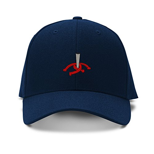 Speedy Pros Horseshoes And Stake Embroidery Adjustable Structured Baseball Hat Navy