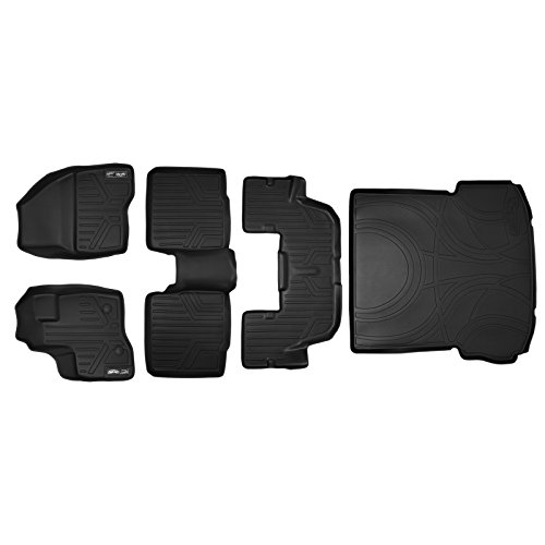 SMARTLINER Floor Mats  and Cargo Liner Behind 2nd Row Set Bl
