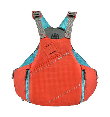 - Astral YTV Life Jacket PFD for Whitewater, Touring Kayaking, Sailing and Stand Up Paddle Boarding, Hot Coral, Small/Medium