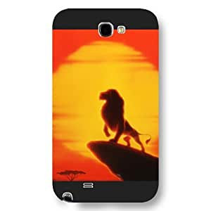 Customized Black Hard Plastic Disney Cartoon the Lion King Samsung Galaxy Note 2 Case