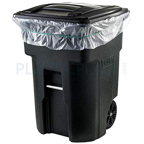 Plasticplace 95 Gallon Trash Bags, 2.0 Mil, 61