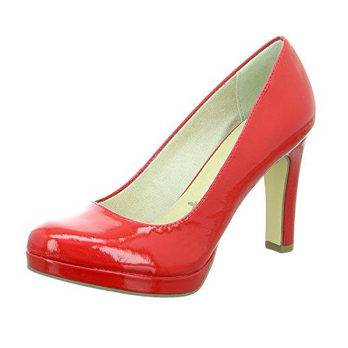 Tamaris Women's 22426 Closed-Toe Pumps Red QFnBTI