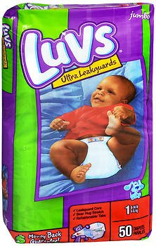 Luvs Ultra Leakguard Diapers Size 1, 8-14 lb - 2 packs of 48, Pack of 6