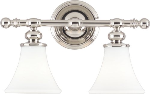 Hudson Valley Lighting 4502-PN Two Light Bath Bracket from The Weston Collection, 2, Polished Nickel