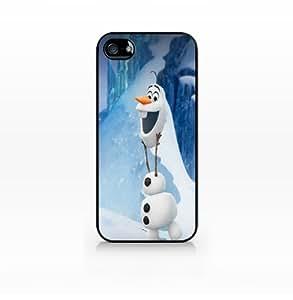 Olaf, Disney Frozen-iphone 5 case, iphone 5s case, Hard Plasic, Black case SCC-IP5-009 BLACK