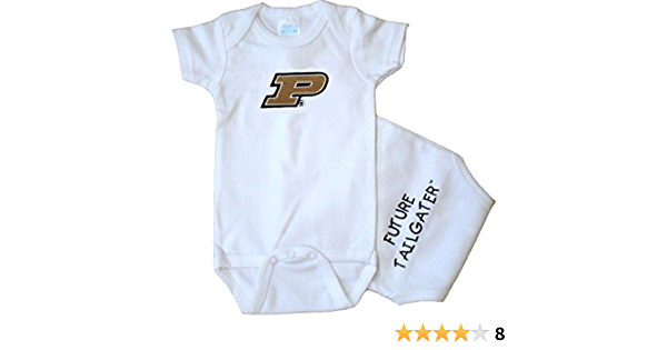 College Team Size 24 months OnesiePurdue Longsleeve RomperHeather Gray and Black Purdue OnesieUniversity Baby ApparelBoiler Up 1869