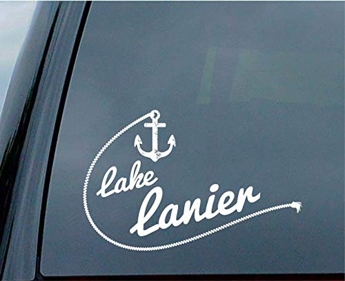 CELYCASY Lake Lanier Sticker for Car Window or Laptop Placement (Lake Lanier Decal)