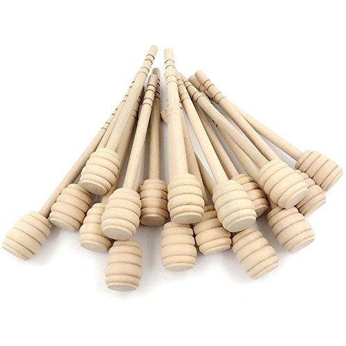 Dealglad 20Pcs Portable 6 Inch Wooden Jam Honey Dipper Stirring Rod Honey Muddler Stick Spoons by Dealglad